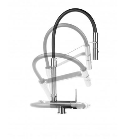 Underfinestra Küchenspülenmischer, gebürsteter Edelstahl Farbe Gattoni Rubinetterie 6015065NS