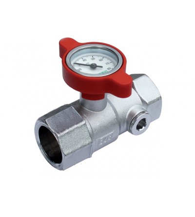 Manual ball valve complete with temperature gauge FAR 3048
