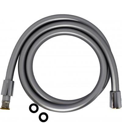 Flexible Hose PVC Silver with anti-torsion conical nut 1/2x1/2 Pollini Acqua Design FLE001 o FLE002