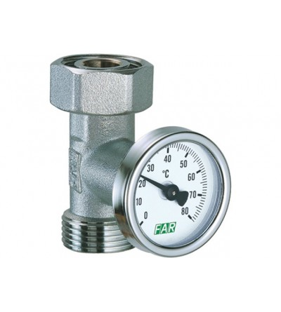 Chrome-plated temperature gauge fitting FAR 3433