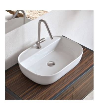 Lay-on washbasin Scarabeo Glam 56/R 1802