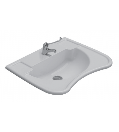 Ergonomic ceramic washbasin suspended installation 67.54,5 Globo Ausilia DS006BI