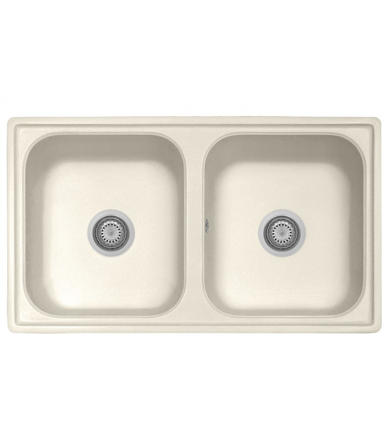 Kitchen sink in ivory color...