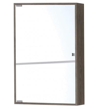 Specchio con contenitore in colore rovere scuro Feridras 802020