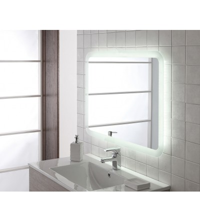 Mirror 80 x 60 cm with integrated LED light Feridras 178037