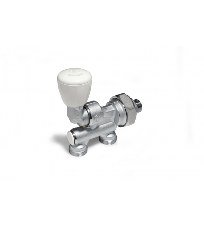 Micrometric valve with thermostatic option for single and twin pipe systems Giacomioni R304T