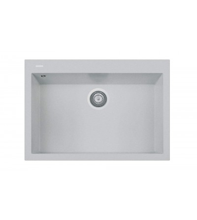 Sink in aluminum-colored composite material Telma Cube ON761071