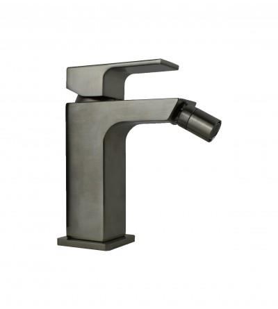 Square model bidet mixer without waste Gattoni Kubic 2564/25