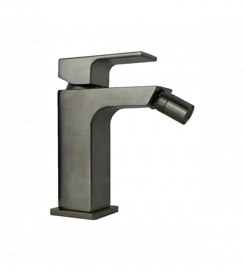 Bidet mixer in brushed...