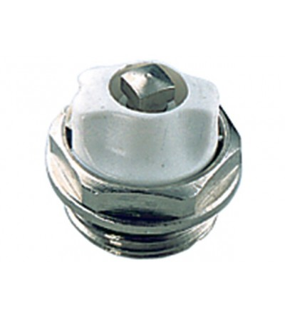 Chrome-plated manual air vent valve with swiveling purge FAR 6020