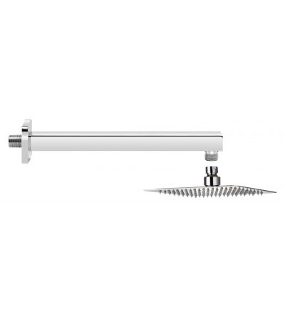 Shower set with 20x20 cm shower head 30 cm arm Piralla KITSOFQ1