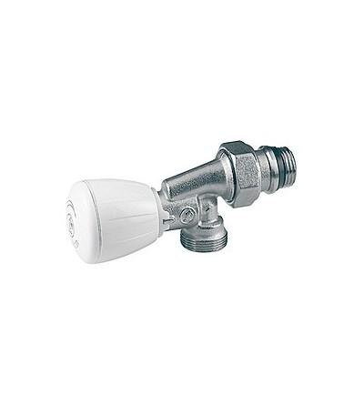 Micrometric reverse angle valve with thermostatic option Giacomini R435TGX053