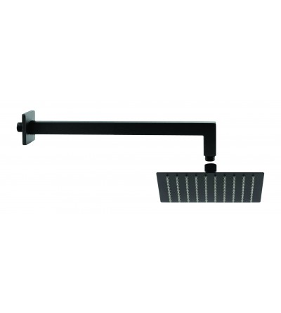 Shower set head 25x25 cm arm 40 cm matt black Piralla KITSOFQ3NR