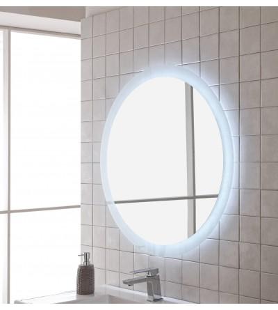 Specchio per bagno tondo con illuminazione Feridras 178046