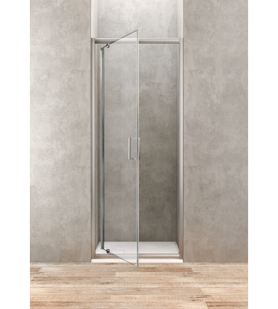 Pivoting swing door 75 cm transparent glass Ponsi Gold BBGOLTPG75