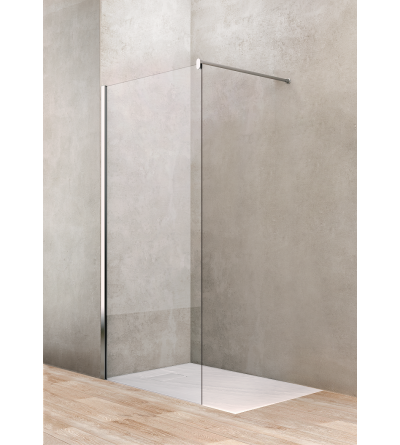 Fixed shower screen 80 cm transparent glass Ponsi Gold BBGOLTFW80