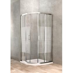 Semi-round shower enclosure...