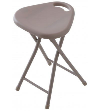 Folding bathroom stool in dove gray color Feridras 868006