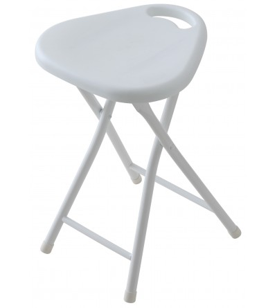 Folding bathroom stool in dove white color Feridras 868004