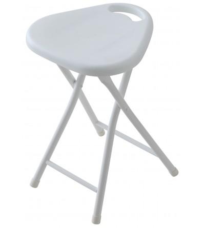 Sgabello arredo bagno pieghevole colore bianco Feridras 868004