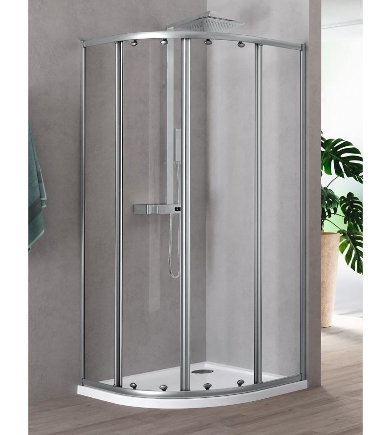 Semicircular corner shower...