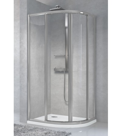 Semicircular corner shower enclosure with 2 sliding and 2 fixed doors Novellini Star R