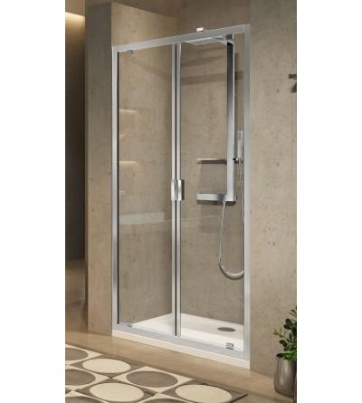 Porta doccia apertura 2 ante battenti verso l'interno e verso l'esterno Novellini Lunes 2.0 B