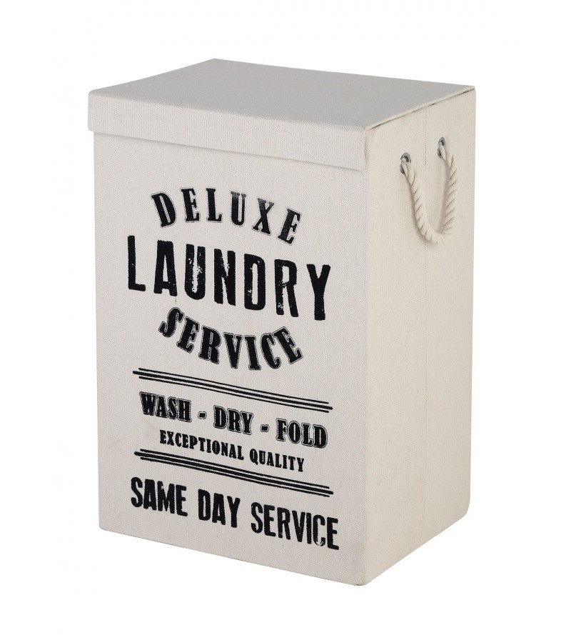 Laundry basket in white...