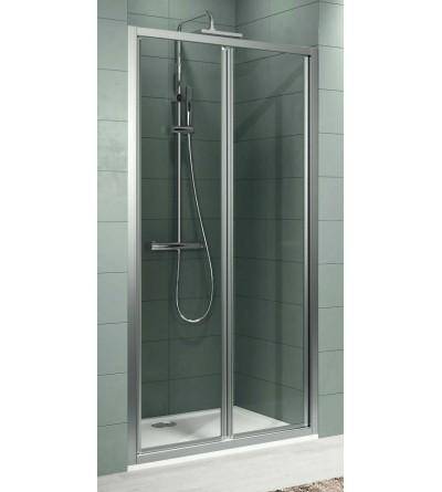 Porta doccia 2 ante a soffietto con apertura di sicurezza Novellini Zephyros S In Out