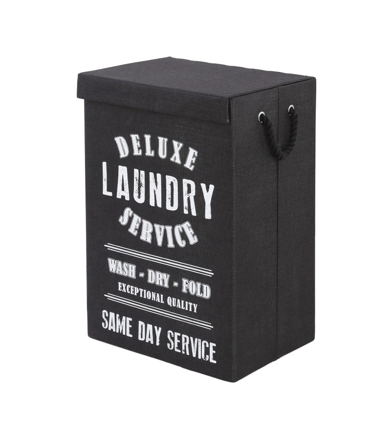 Black laundry basket...