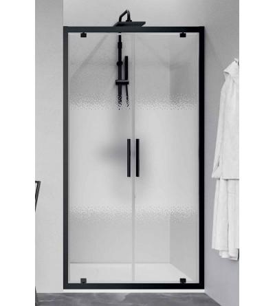 Porta doccia 2 ante battenti apertura verso l'interno e verso l'esterno Novellini Kuadra 2.0 2B