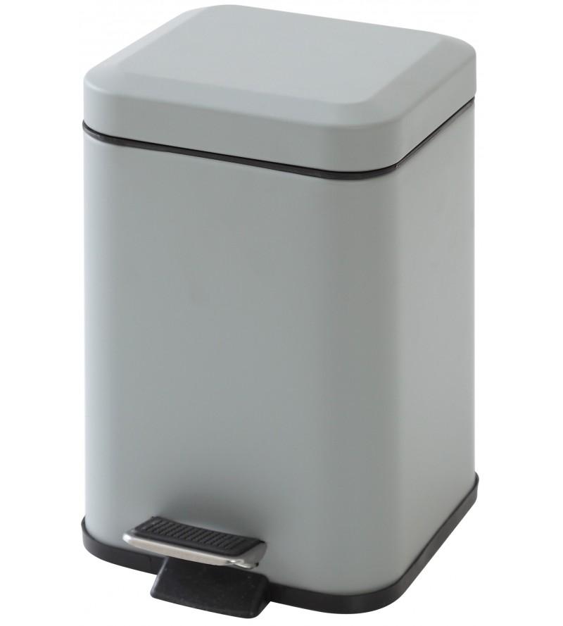 3 liter gray bin with...