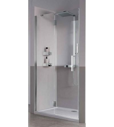 Porta doccia apertura 1 anta battente e 1 fisso in linea Novellini Louvre G