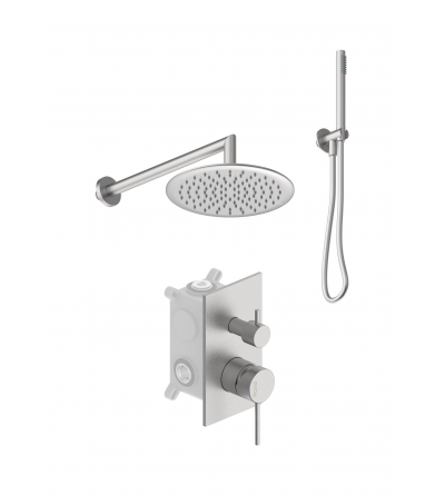 Complete shower set in AISI 316 stainless steel Ponsi Stilox KITSTLO1