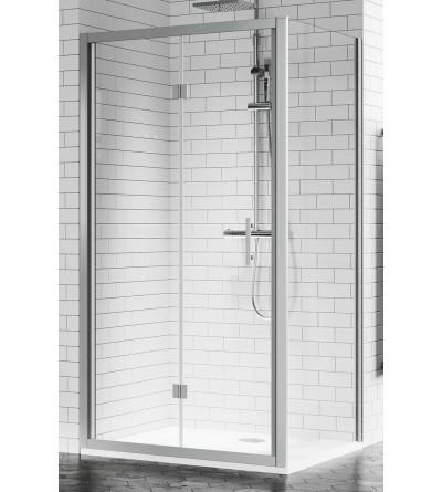 Porta doccia apertura 2 ante a soffietto verso l'interno Novellini Zephyros S