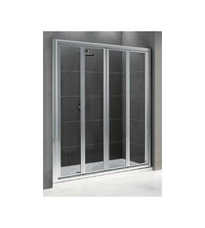 Porta doccia doppia apertura 2 ante a soffietto Novellini Star 2S