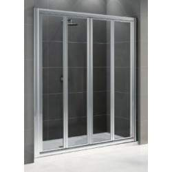 Double opening shower door...
