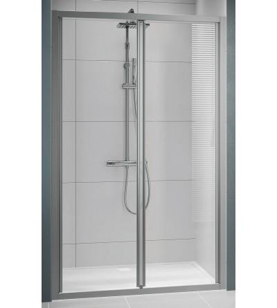 Porta doccia apertura 2 ante a soffietto apertura verso l'interno Novellini Lunes 2.0 S