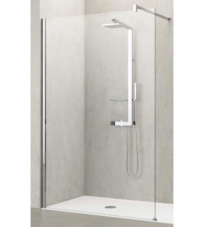 Fixed shower screen Novellini Kuadra H