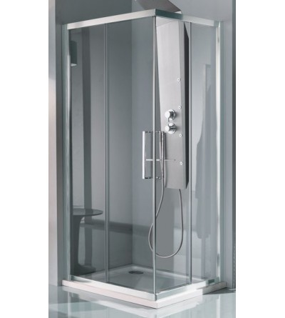 Corner shower enclosure with four doors Samo Europa B7816