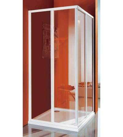 Corner shower enclosure with four doors Samo Ciao B2601