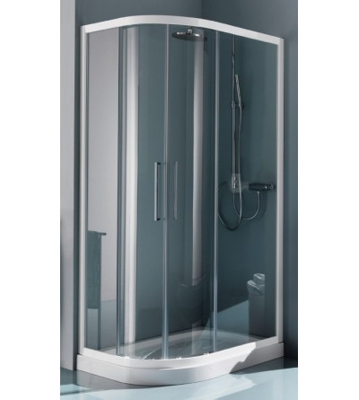 Rounded rectangular shower enclosure opening sliding doors Samo Europa B7893