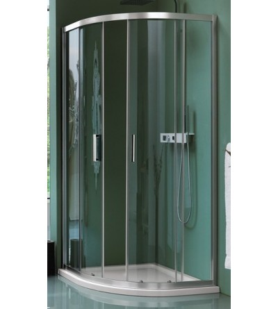 Round sliding shower enclosure with four doors Samo Cee Art B0953