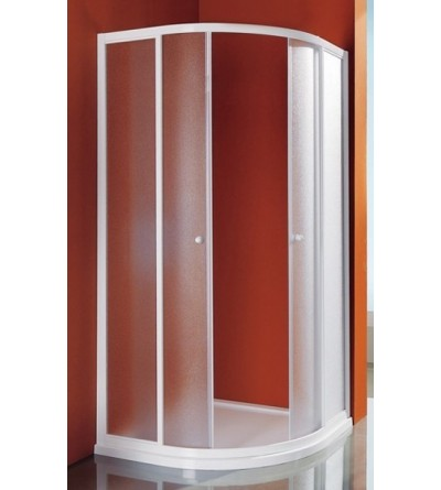 Rounded rectangular shower enclosure opening sliding doors Samo Ciao B2620