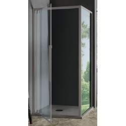 Shower door with 1 hinged...