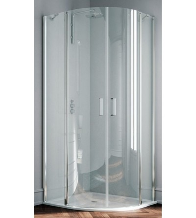 Round shower enclosure with 2 hinged doors Samo Polaris B3873