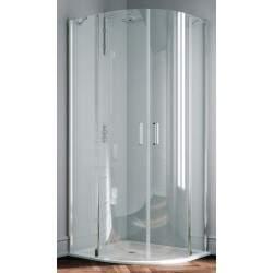 Round shower enclosure with...