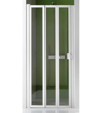 Porta doccia a 3 ante a soffietto ripiegabili Samo Flex B3512