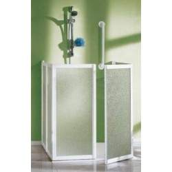 3-sided corner shower...