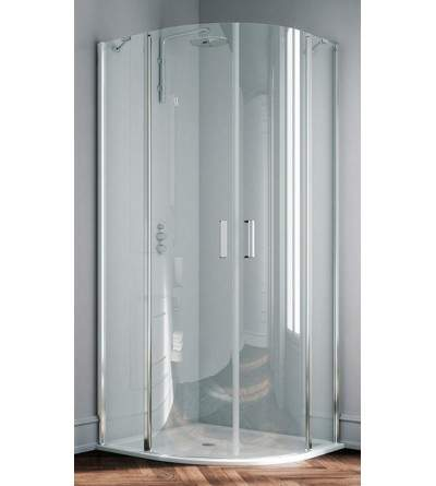 Round shower enclosure with 2 hinged doors opening inwards and outwards Samo Polaris B3965